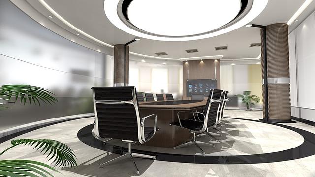 Panele led i oświetlenie biura